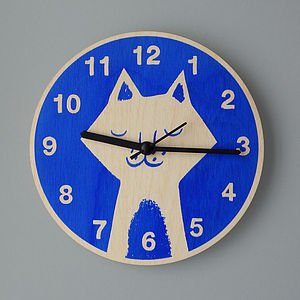 Cat's Whiskers Clock - decorative accessories