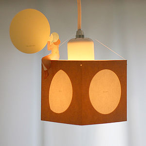 Full Moon Story Lampshade Card - lighting