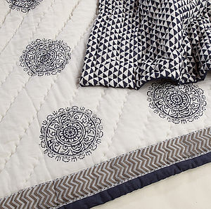 Samudra Cotton Quilt - bedspreads & quilts