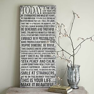 'Today Is The Day' Vintage Wall Sign - outdoor decorations