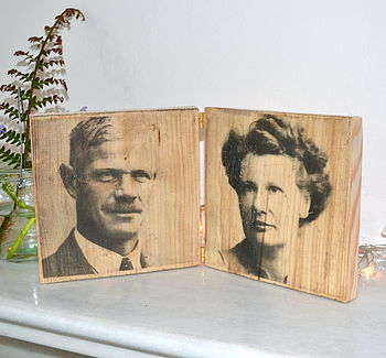 Double Family Portrait Print On Wood