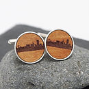 Wooden San Francisco Skyline Cufflinks
