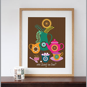 'One Lump Or Two?' Art Print