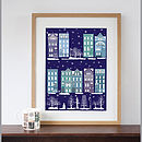 New York Brownstones In Winter Art Print