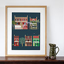 Sydney Terraced Houses Art Print