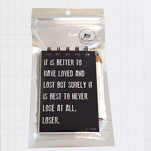 'Loved And Lost' Quote Notebook