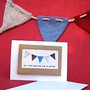 Bunting Gift Card With Knitting Pattern