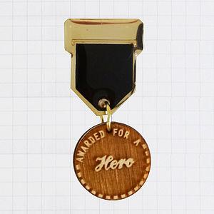 'Hero' Champ Badge Brooch