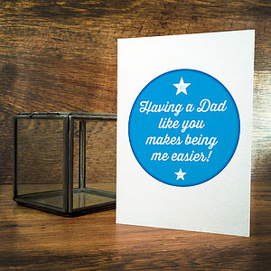 Having A Dad Like You Card