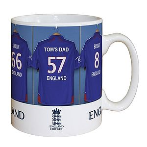 Personalised Cricket Fathers Day Mug - crockery & chinaware