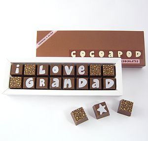 Personalised Chocolates For GRANDADS - gifts for him