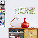 Floral 'Home' Wall Sticker