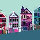 San Francisco Painted Ladies Print