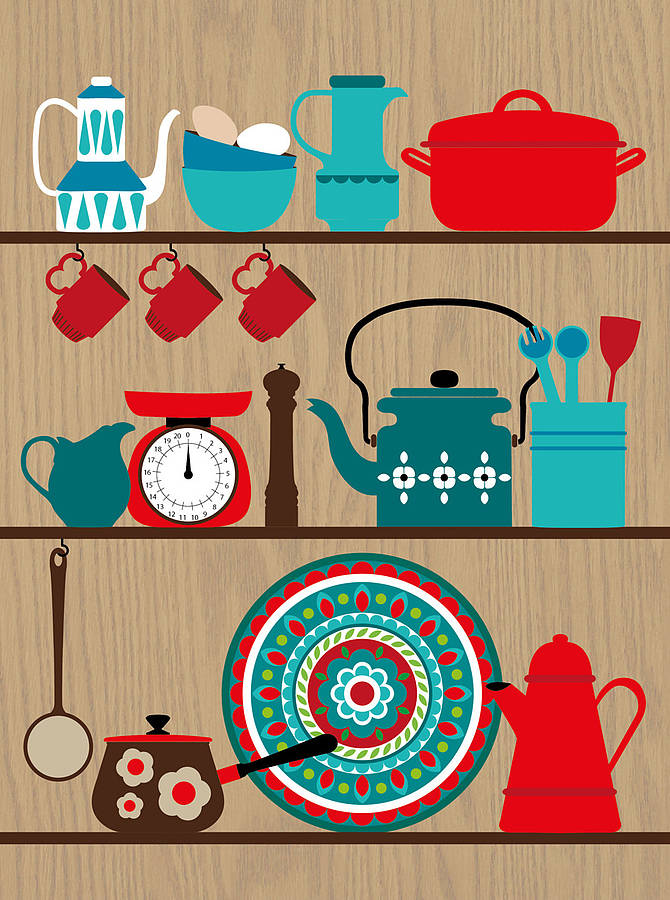 Retro kitchen artwork wwwpixsharkcom images for Retro küchen