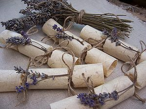 Natural Lavender Mini Wedding Crackers - winter wedding ideas