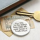 'Live Love Laugh' Pocket Coin