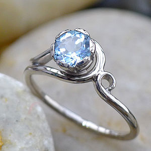 Aquamarine Ring In 18ct Gold Handmade To Size - jewellery