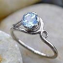 Aquamarine Ring In 18ct Gold
