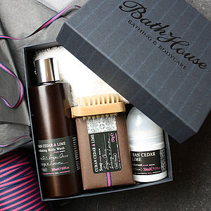 Men's Cuban Cedar Shower Gift Box