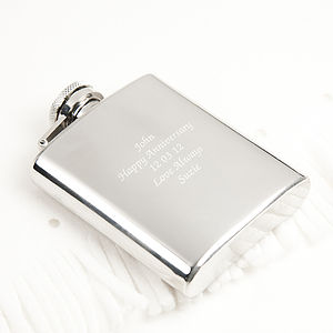 Luxury Rounded Hip Flask - food & drink gifts