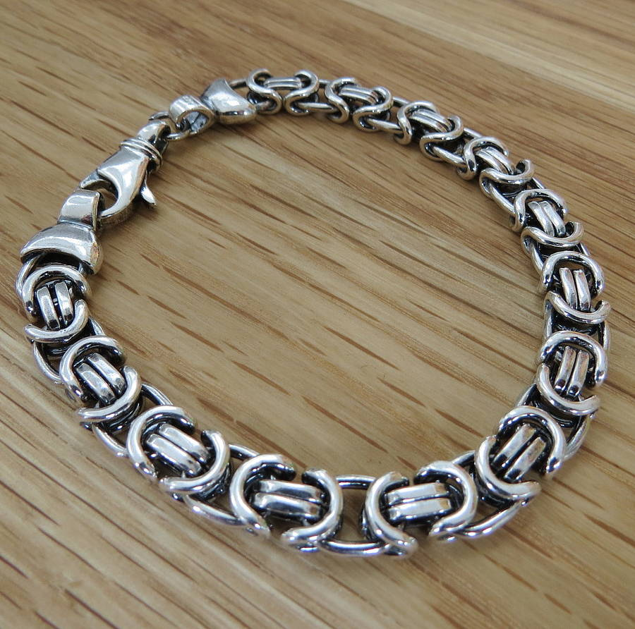 saint men for jewelry lyst normal in product chain laurent burnished metallic sterling bracelet silver