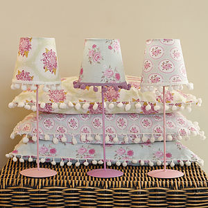 Floral Cushion And Matching Lampshade Set - home sale