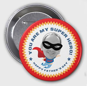 Personalised Father's Day Superhero Badge