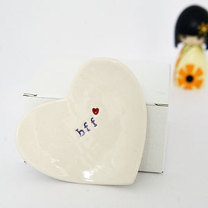 Gift For Friend 'Bff' Ceramic Ring Dish - jewellery storage & trinket boxes