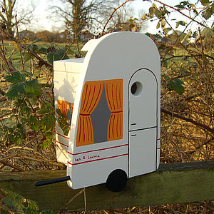 Personalised Caravan Bird Box - birds & wildlife