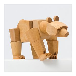 Ursa Minor Wooden Bear - decorative accessories