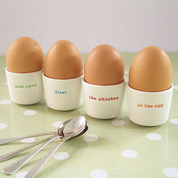 Set Of Four Egg Cups