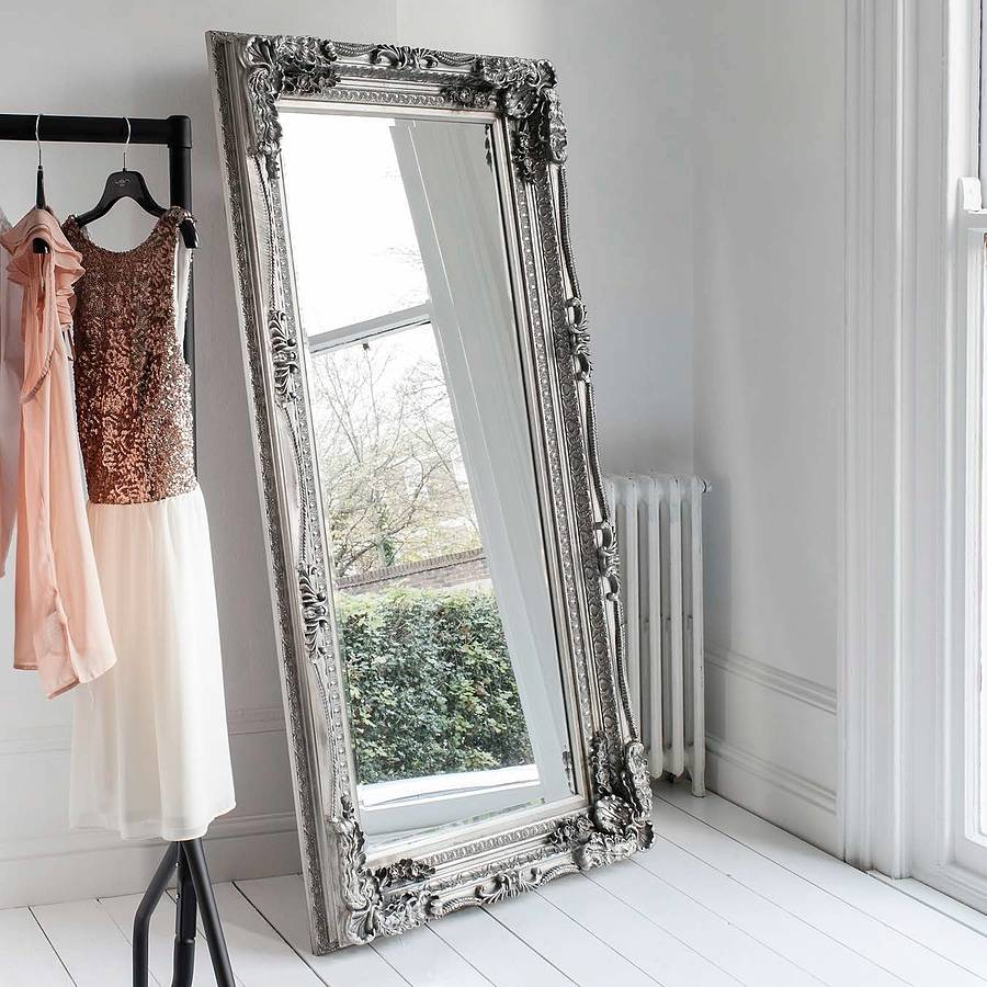 Carved Floor Standing Mirror By Primrose & Plum