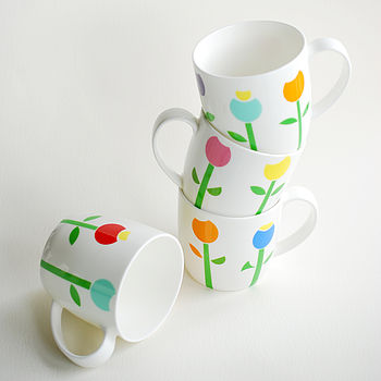 Tulip Bone China Mug