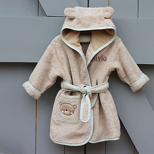 Personalised Teddy And Ele Bathrobe - baby care