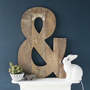 Oversized Handmade Reclaimed Wooden Ampersand