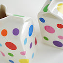 Mixed Polkadot Milk Jug