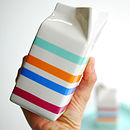 Stripy Porcelain Milk Jug