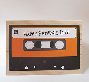 Mix Tape Cassette Father's Day Card - view all sale items
