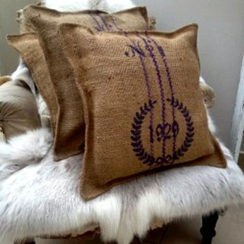 Vintage Coffee Sack Cushion