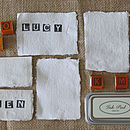 20 Handmade Paper Place Cards Torn Edges