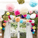 Three Pom Pom Decorations