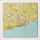Bespoke Map Square Artwork