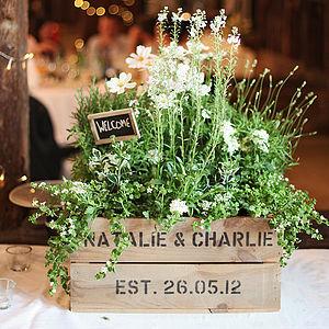 Personalised Crate - Small Wedding Gift - gardener