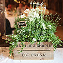 Personalised Crate - Small Wedding Gift