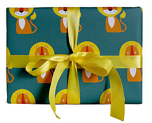 Green Lion Wrapping Paper