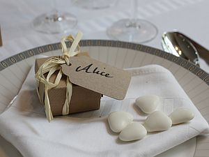 Filled Wedding Favour Boxes / Place Setting - cakes & treats