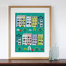 London Row Houses Art Print Spring