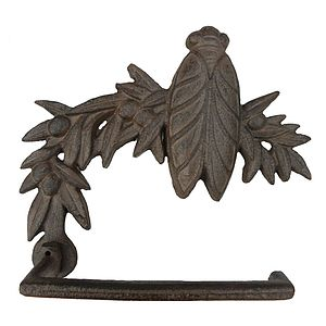 Honey Bee Cast Iron Toilet Roll Holder - furnishings & fittings