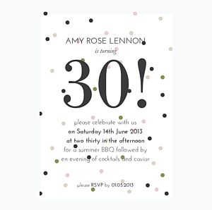 Personalised Confetti Party Invitation - home