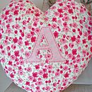 Personalised Handmade Floral Heart Cushion